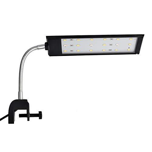NICREW LED Aquarium Beleuchtung, Aquarienbeleuchtung mit leistungsstarkem Clip für Kleine Aquarium, Weiß und Blaulicht