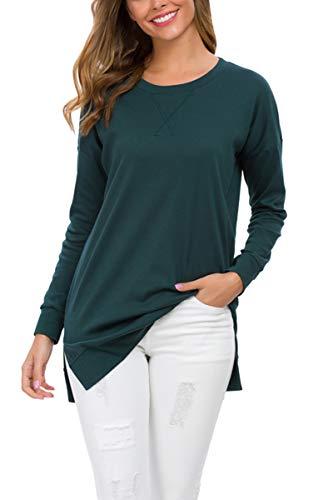 levaca Womens Pullover Sweatshirts Tunic Tops for Leggings Christmas Green M
