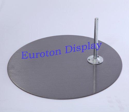 Euroton rund Metallplatte hochwertige Metallplatte Standplatte für Schaufensterpuppe Nickel matt rund