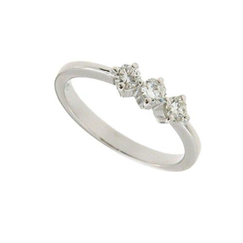 Trilogy in oro bianco 750 18kt e diamanti - Orolab N36