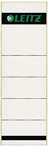 Leitz Rückenschild selbstklebend für Standard- und Hartpappe-Ordner, 100 Stück, 80 mm Rückenbreite, Kurzes und breites Format, 62 x 192 mm, Papier, grau, 16421085