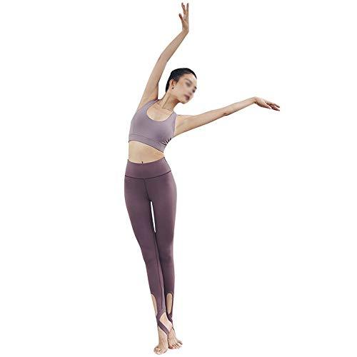 Yingm Frauen Yoga Trainingsanzug Frauen-Normallack Yogaklage Schritt Auf Der Hüfte Zweiteiligen Freizeit Turnhalle Sportkleidung Kleidung Nach Hause Laufen Damen Fitness Yoga Lauf Trainingsanzug