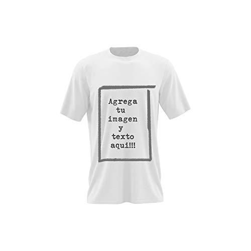Camisetas Personalizables - T-Shirt Personalizadas .Tu Foto ó diseño en una Camiseta (Blanco, M)