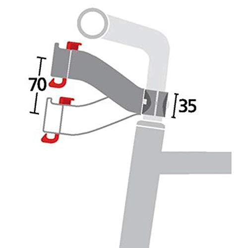 KLICKfix Zubehör Lenkeradapter für Vorbau Schwarz, One Size - 3