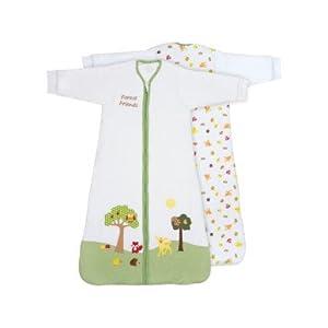 Slumbersac – Saco de dormir para bebé con diseño de animales del bosque (para invierno, de manga larga, 3.5 tog, tallas…