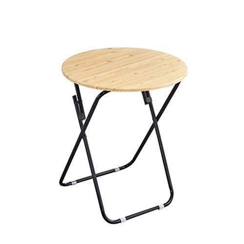 Coffee Table Mesa plegable pequeña GCX-, mesa redonda pequeña, mesa de comedor pequeña, mesa plegable para el hogar, mesa de 80 x 71 cm, antideslizante (color: E)