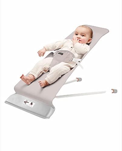 Hamaca Mecedora bebé con balanceo natural, ergonómica, algodón 100%, suave y antialérgico, 2 posiciones, arco de juguete con música y sonajero...