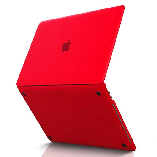 Kuzy MacBook Pro 15 inch Case 2019 2018 2017 2016 Release A1990 A1707, Hard Plastic Shell Cover for Newest MacBook Pro 15 case with Touch Bar Soft Touch - Red