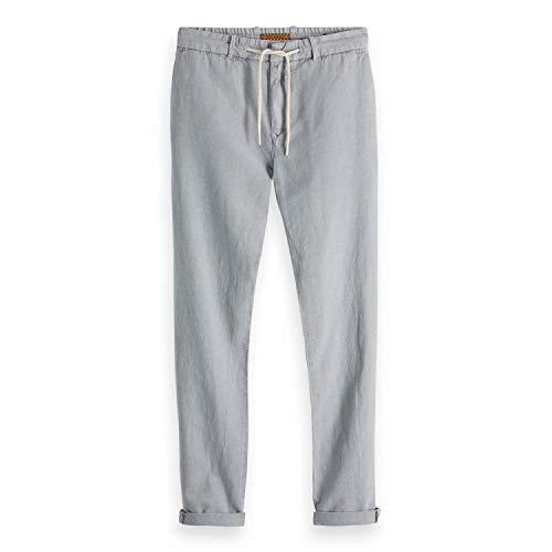 Scotch & Soda Warren - Pantaloni da uomo pietra 36W x 32L