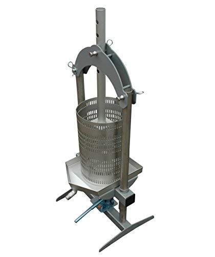 Fischer Kellereitechnik OPRIH18 hydraulische 18 Liter Beerenpresse/Obstpresse/Weinpresse und Honigpresse aus Edelstahl