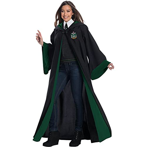 Halloween Dresses Cosplay Magic Robe, Movie-level Dress-up Costume Accessories Luxurious Adult-themed Robes In the Magical World green-XXL