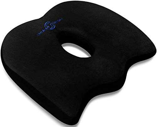 Seat Cushion for Office Chair - Memory Foam Seat Cushion - Car Seat Cushion - Tailbone Pain Relief Cushion - Sciatica Relief Pillow