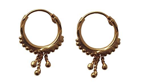 Sólido de 18 quilates genuino del diseño del aro (18 quilates) Oro Fino colgante triple cadena