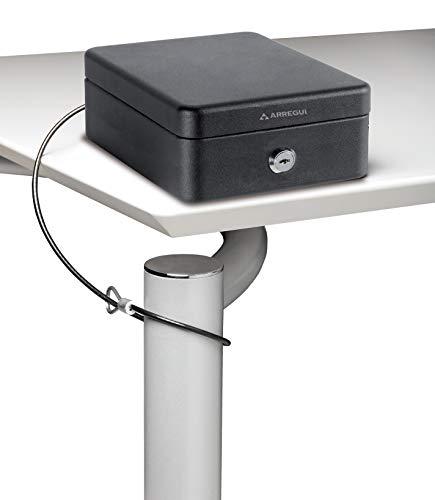 Arregui C9467 Caudales con Cable de Fijación y Apertura de Llave, Caja de Efectivo, Negro