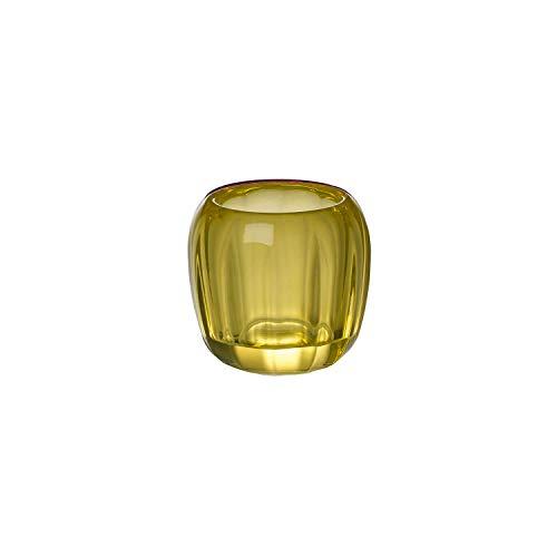 Villeroy & Boch Coloured delight Portavelas Pequeño Lemon Pie, 7 CM, Cristal, Transparente/Amarillo