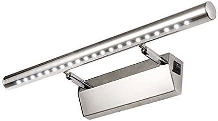 De Haute Qualite Lightess Lampe Pour Miroir Tableau Applique Murale 5W LED Avec Interrupteur  En Acier Inoxydable Pour Salle