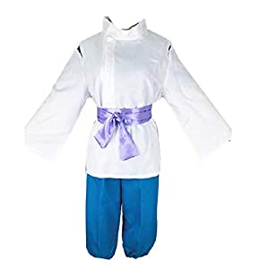 DUNHAO COS Anime Spirited Away Haku Nigihayami Kohakunushi Kimono Cosplay Halloween Cosplay Costume