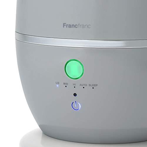 Francfranc2020シレーヌ超音波式2WAY加湿器グレー