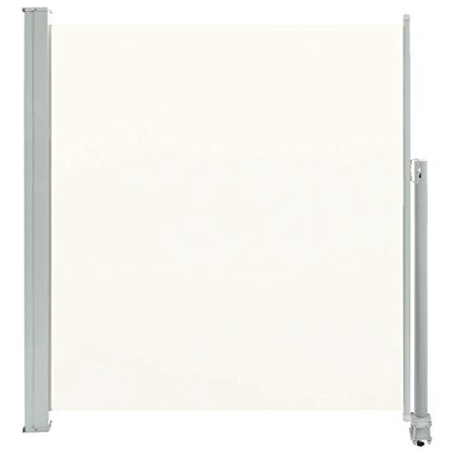 Festnight Auvent latéral rétractable de Patio Store latéral pour Balcon Auvent latéral Terrasse Multifonctionnel 140 x 300 cm Blanc cassé