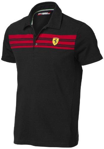 OCC sportwear Polo Classic Ferrari Scuderia Noir Detail Striped Taille S