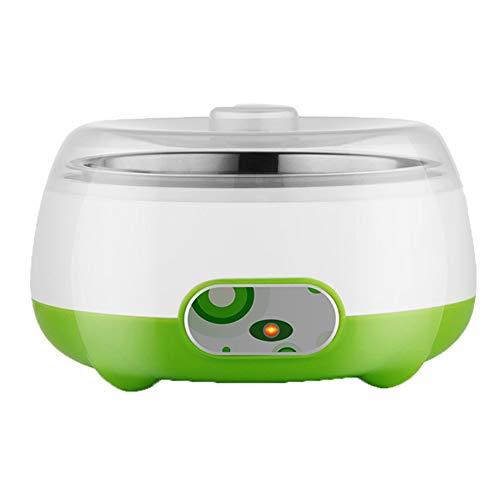 FxsD Yogurt Maker Machine con Un Solo Tocco di visualizzazione in Acciaio Inox Liner Tridimensionale Riscaldamento a Risparmio energetico Yogurt Maker Macchina casa (Color : Green)