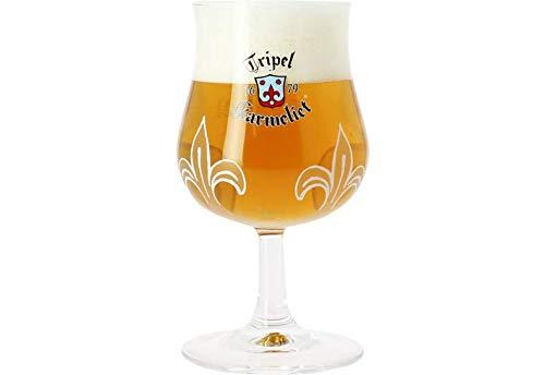 Karmeliet Triplo Birra Calice Vetro Nucleato 25cl'Novizie' Ufficiale Tripel Birra Vetro