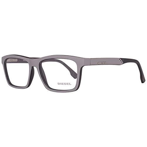Diesel Brillengestelle Dl5062 55020 Montature, Grigio (Grau), 53 Unisex-Adulto