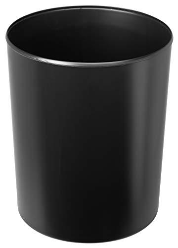 HAN Sicherheitspapierkorb – Volumen 13 Liter. Aus flammhemmenden, schwer entflammbaren Spezialkunststoff. Mit ALUMINIUM-Einsatz, schwarz, 1814-S-13