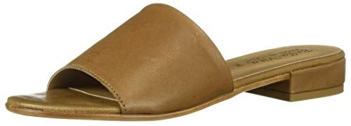 Bella Vita Women's TES-Italy Slide Sandal Shoe, Camel Italian Leather, 9 M US