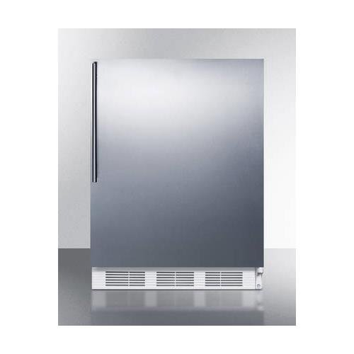 "AL750BISSHV 24"" All-Refrigerator with 5.5 Cu. Ft. Capacity Automatic Defrost Adjustable Glass Shelves Adjustable Thermostat and Vertical Stainless Steel Handle in Stainless Steel"