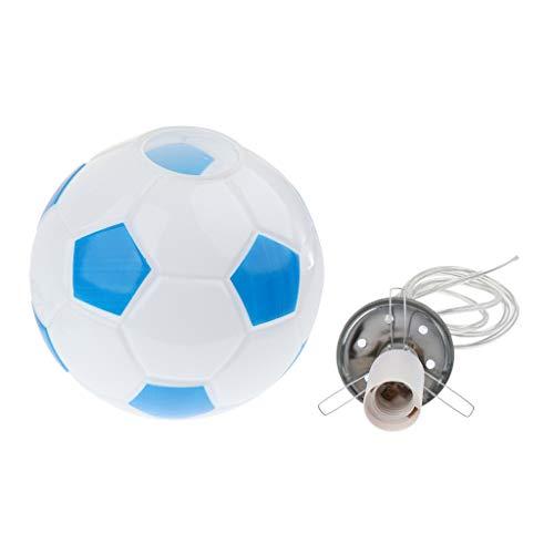 perfk Lámpara Colgante de Fútbol Simple Moderna E27, Lámpara de Techo para Dormitorio Infantil, Pantalla de Vidrio, Luces de Tienda de Deportes E27
