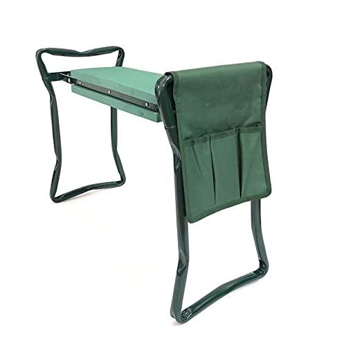 JQAM Asiento para rodillas de jardín, banco de taburete de jardinería con bolsa de herramientas pequeña, almohadilla para rodillas con asas Herramientas de jardín Espuma suave para proteger la rodilla
