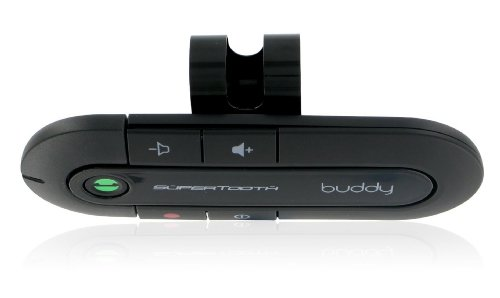 SuperTooth Buddy Handsfree Bluetooth Visor Speakerphone Car Kit for Smartphone Devices, Compatible with iPhone, Samsung, Huawei, Google and Other Mobile Smartphones - Black