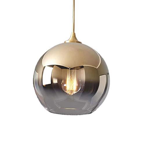Wlnnes Araña de la cabecera individualidad creativa esfera nórdica moderna minimalista barra de dormitorio colgando iluminación de techo restaurante luz degradado de lujo de cristal luz colgante
