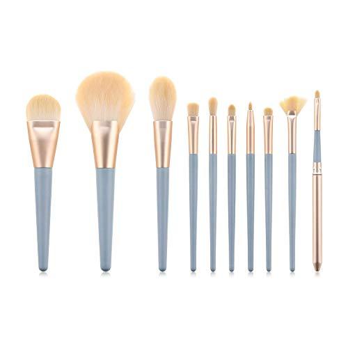 JFFFFWI Pinceaux de Maquillage Professionnel, Kit de Maquillage cosmétique pour pinceaux à la Mode, Ombres et pinceaux pour Les Yeux - 10 pièces