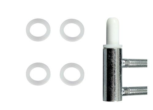 SN-TEC Spezial Fitschenringe aus Kunststoff (keine Abriebspuren) Ø 10,20mm x 15mm x 1mm für Standard Zimmertüren (25)