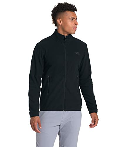 The North Face Men's TKA Glacier Full Zip Jacket, TNF Black/TNF Black, XL