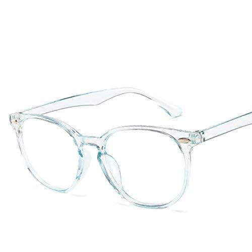 Gafas transparentes Vintage para mujer, gafas redondas de plástico para hombre, gafas ópticas sólidas transparentes, montura de gafas para ordenador
