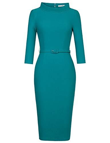 MUXXN Ladies Old Fasion Cap Sleeves Pure Harbor Blue Classic...
