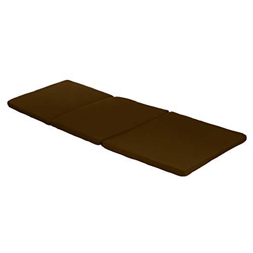 Garden Sun Lounger Replacement Pad To Fit Allibert Keter Daytona Sun Lounger| Rattan Sunlounger Recliner Patio Furniture Cushion | Water Resistant & Lightweight | Hypoallergenic Foam Filled (Brown)