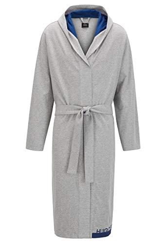 BOSS Herren Identity Hooded Gown Morgenmantel aus Schwerer melierter Baumwolle mit Logo