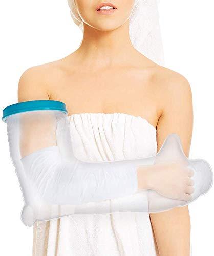 【YuHaru】 繰り返し使える ギブスカバー 防水シャワー 包帯カバー 大人の腕ロング