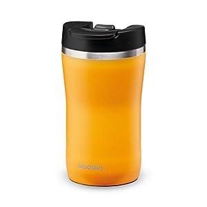 Aladdin Barista Café Thermavac Leak-Lock Stainless Steel Travel Mug 0.25L Sun Yellow – Taza con Aislamiento al Vacío - Se Mantiene Caliente 2,5 Horas - Libre de BPA - Apta Para Lavavajillas