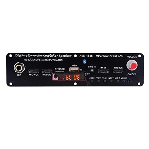 Faderr Módulo de la placa de audio, amplificador receptor Bluetooth portátil, módulo de impulso decodificador de 3.7 V 20 W FLAC USB micrófono mini amplificador Bluetooth soporte FM MP3 TF