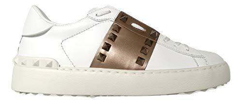 Valentino Sneakers Damenschuhe SW2S0A01 Hel 155 Rockstud Weiß/Bronze, Weiß - Bianco Bronzo - Größe: 37.5 EU