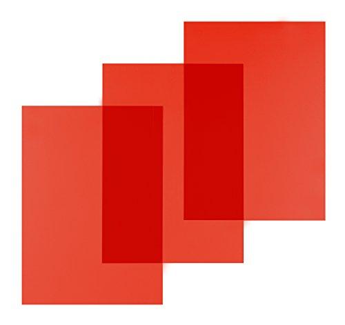 Pavo Einbanddeckel-Klarsichtfolie A4, PVC-Folie, 0.20 mm, 100-er Pack, transparent/rot