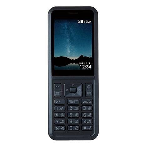 携帯電話 Simply 603SI ケータイ 折りたたみ SIMロック解除済 2.4インチ 約200万画素カメラ テラスシェイプキー 大容量バッテリー (ダークブルー)