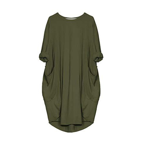 N\P Vestido de maternidad para mujer, manga larga, ajuste holgado