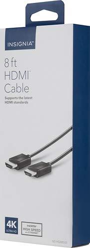 Insignia - 8' 4K Ultra HD HDMI Cable - Black