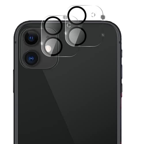 2 Pezzi, Protezione Lente Pellicola Camera Posteriore Compatibile con iPhone 11, Pellicola Vetro Temperato Protettiva Fotocamera Posteriore, Anti Graf